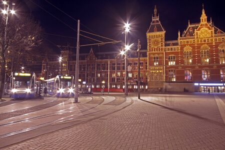 Central Station in Amsterdam the Netherlands at night Stock Photo - 11580392
