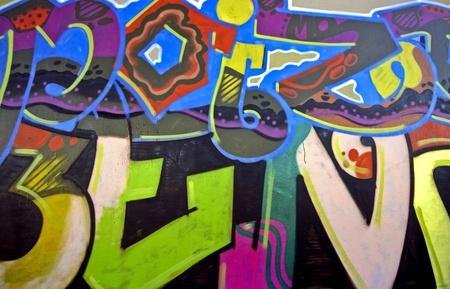 Graffiti muur in Amsterdam, Nederland