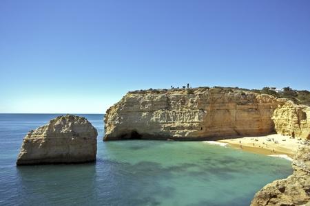 Bay near Armacao de Pera in the Algarve in Portugal Stock Photo