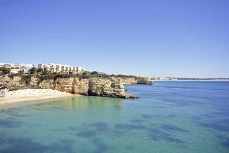 armacao: Beach at Armacao de Pera in the Algarve in Portugal