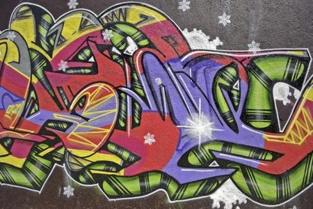 Urban graffiti on a wall