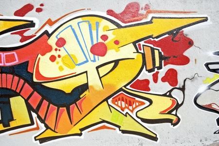Stedelijke graffiti op een muur