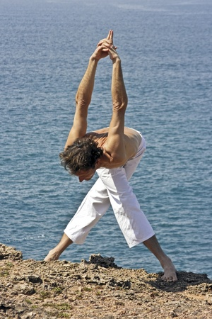 Yoga on the rocks photo