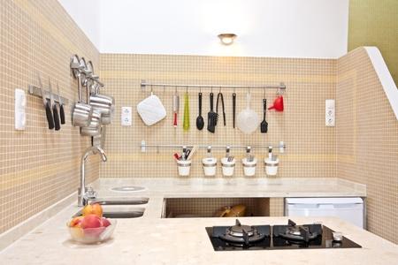 counter top: Modern new kitchen interior