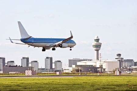 De luchthaven Schiphol in Nederland Stockfoto