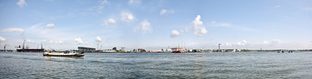 Panorama from the harbor in Amsterdam the Netherlands  photo