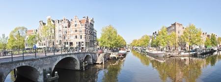 Uitzicht op de stad panorama van de stad Amsterdam, Nederland