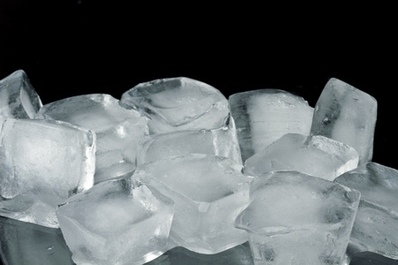 Ice cubes on a black background  photo