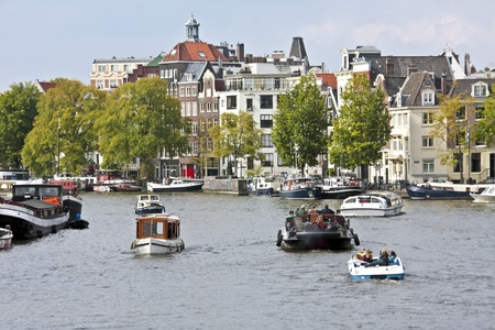 cruiseboat: City scenic from Amsterdam in the Netherlands