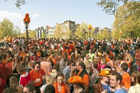AMSTERDAM - APRIL 30  Queensday on April 30, 2010 in Amsterdam, The Netherlands  Editorial