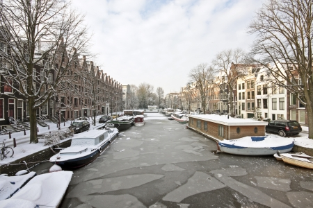 Winter scenic from Amsterdam in the Netherlands photo