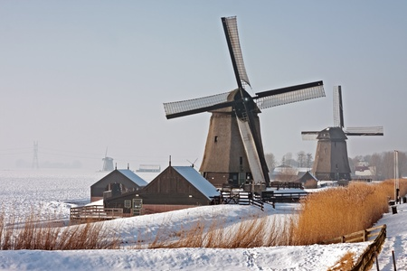Traditonal windmills in the countryside from the Netherlands Stock Photo - 13988986