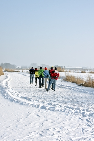 wintersports: Ice skating in the countryside from the Netherlands
