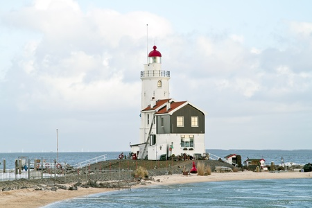 marken: Lighthouse from Marken in the Netherlands Stock Photo