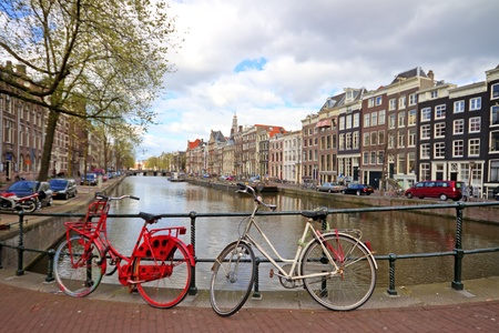 City scenic from Amsterdam in the Netherlands photo