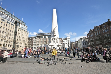 The monument on the Dam in Amsterdam the Netherlands