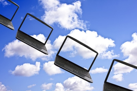 cloudshape: Cloud computing concept Stock Photo