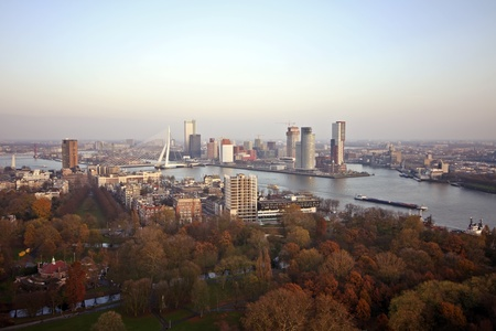 meuse: View on Rotterdam with the river Meuse in the Netherlands Stock Photo