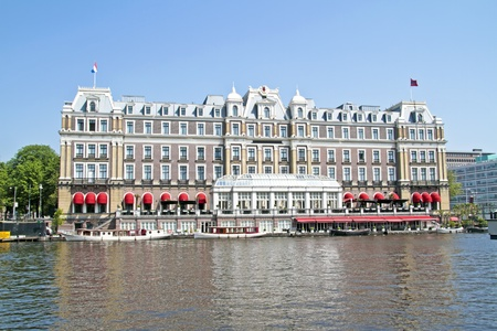 Historical medieval building in Amsterdam the Netherlands photo