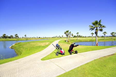 Golf course in the Algarve Portugal