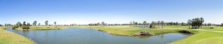Panorama Golfbaan in de Algarve Portugal Stockfoto