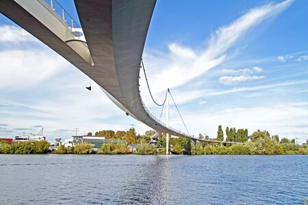 pedestrian bridge: Nescio pedestrian bridge in Amsterdam the Netherlands Editorial