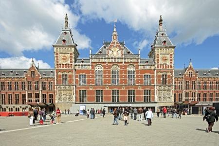 Centraal station in Amsterdam, Nederland
