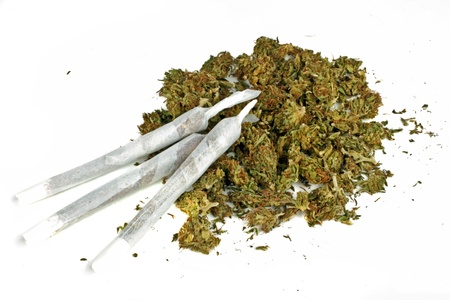 Marihuana gewricht met marihuana Stockfoto - 16822968