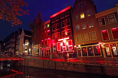 Red Light District in Amsterdam the Netherlands Redakční