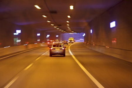Driving through a tunnel in the Netherlands Stock Photo - 17038025