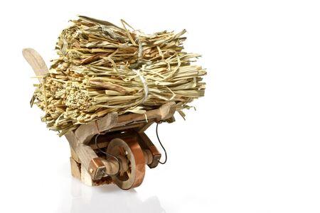 handcart: Handcart with straw Stock Photo