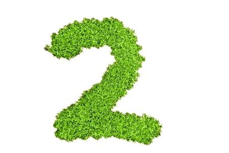 Numero due da erba