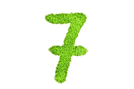 number seven from grass photo