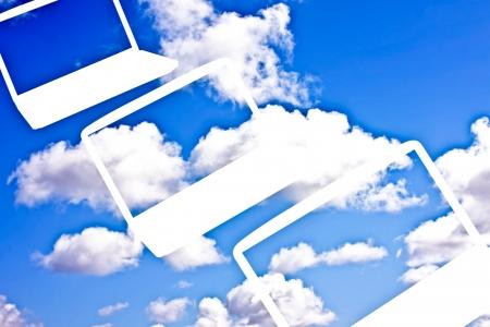 terminology: Cloud Computing Technology concept Stock Photo