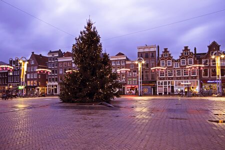 Christmas in Amsterdam on the Nieuwmarkt in the Netherlands Stock Photo