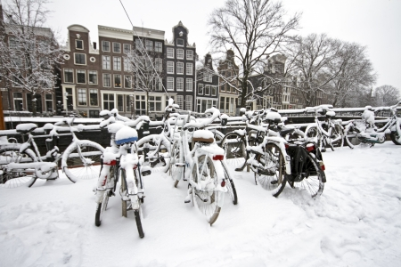 Winter in Amsterdam in the Netherlands