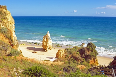 praia: Praia da Rocha in the Algarve Portugal