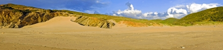 vale: Rocks and sanddunes at Vale Figueiras in Portugal