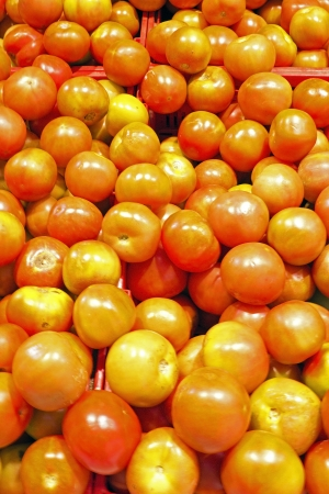 show garden: Tomatoes in the supermarket Stock Photo