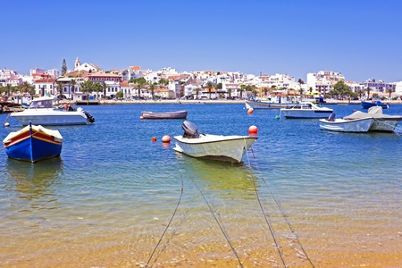 Lagos: View on Lagos in Portugal Stock Photo