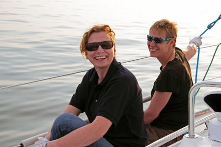 ijsselmeer: Happy sailing on the IJsselmeer in the Netherlands