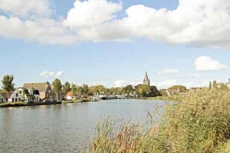 View on Oudekerk aan de Amstel in the Netherlands Stock Photo - 21490826