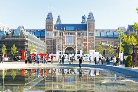 Rijksmuseum in Amsterdam in Nederland Stockfoto
