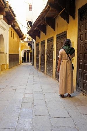 mundo contaminado: Calle vieja en Fez Marruecos