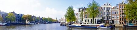 Panorama van Amsterdam in Nederland