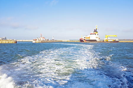 helgoland: Harbor from Helgoland in Germany Stock Photo
