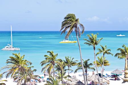 Sailing in the blue caribic sea photo