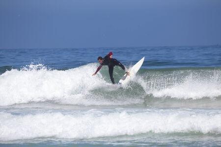 vale: VALE FIGUEIRAS -  AUGUST 20: Professional surfer surfing a wave on august 20 2014 at Vale Figueiras in Portugal Publikacyjne