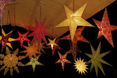 christmas stars: Colored christmas stars