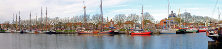 enkhuizen: Panorama from the harbor in Enkhuizen Netherlands